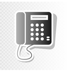 Communication or phone sign new year vector