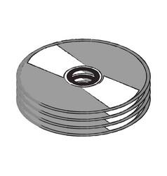 dvd cd rom vector image