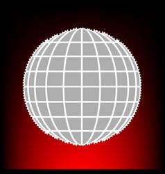 earth globe style vector image