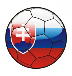 Flag of slovakia on soccer ball vector