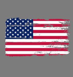 flag usa grunge vector image