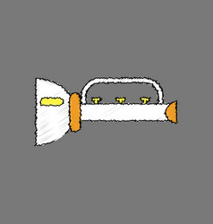 flat shading style icon children trumpet vector image