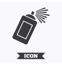 Graffiti spray can sign icon Aerosol paint vector image vector image