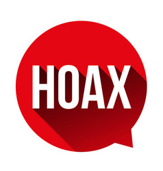 hoax warning speech bubble vector image