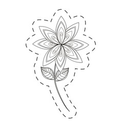 Lilac flower decoration cut line vector