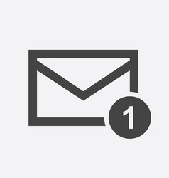 Mail envelope message in flat style on white vector