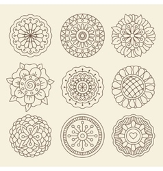 Mehndi indian henna tattoo flowers vector image vector image