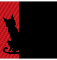 Modern black cat vector image