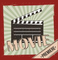 movie film premiere retro invitation poster vector image