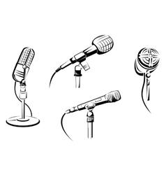 Music microphones vector