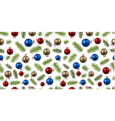 new year colorful seamless pattern vector image
