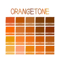 Orangetone color tone vector