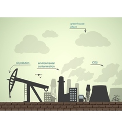 Pollution and factories vector
