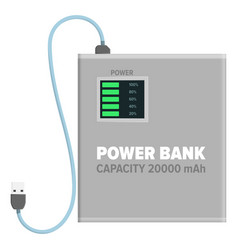 Power bank for charging isolated vector