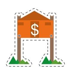 Real estate housing market value price cut line vector
