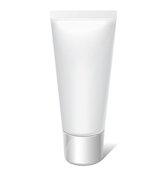 Realistic tube for cosmetics cream tooth paste vector