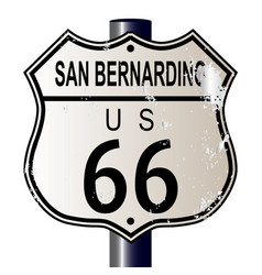 San bernardino route 66 highway sign vector