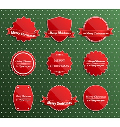 Set of christmas luxury labels vector image
