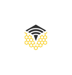 Signal bee logo vector