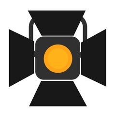 Spotlight tripods icon vector