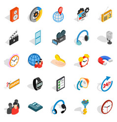 Technical detail icons set isometric style vector