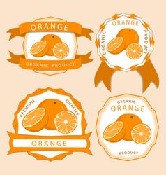 the yellow orange vector image vector image