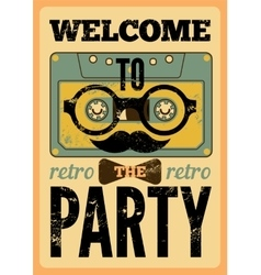 Typographical Retro Party poster vector image vector image