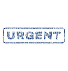 urgent textile stamp vector image vector image