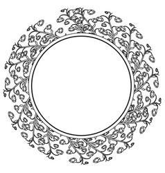 Wreath of flowers icon vector