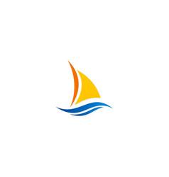 yacht boat logo vector image vector image