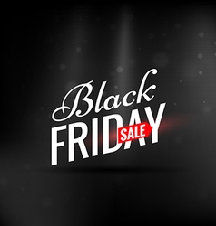 Elegant clean black friday sale design vector
