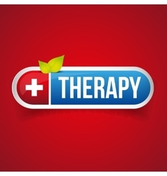 Therapy button logo vector image