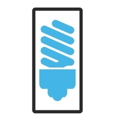Fluorescent bulb framed icon vector