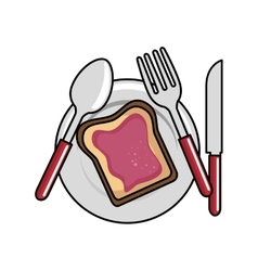 Bread toast isolated icon vector
