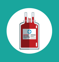 blood bag donation concept vector image