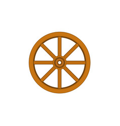 vintage wooden wheel in brown design vector image