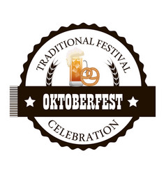 oktoberfest traditional food isolated vector image