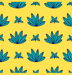Seamless tropical jungle palm leaves pattern vector