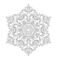 Damask pattern orient grey ornament vector