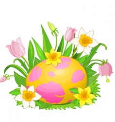 Easter egg in a grass vector