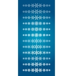 Set of scribble snowflakes borders vector