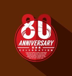 80th years anniversary celebration design vector