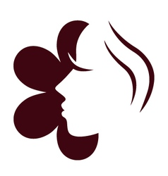 Female flower face vector