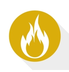 Flame burning icon vector