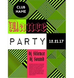 Geometric music party poster vector