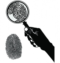 crime scene fingerprint vector image