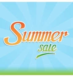 Summer sale inscription with handwritten letters vector