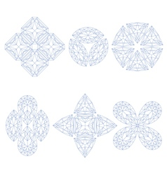 Set of geometrical emblems vector