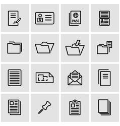 line document icon set vector image