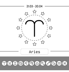 Aries zodiac sign icon for horoscopes vector